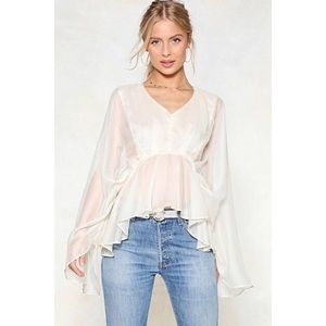 Nasty Gal Cape Up Mesh Top